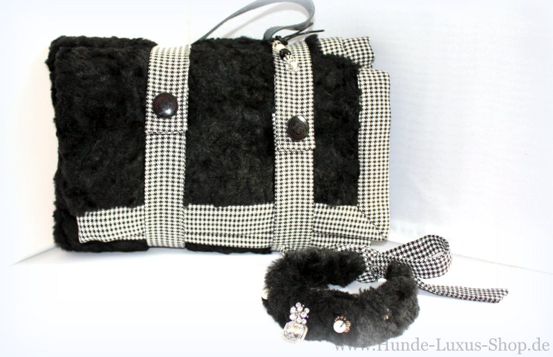 Hundedecke Tragetasche mit Hundehalsband