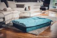 Luxuskissen Lagune blau