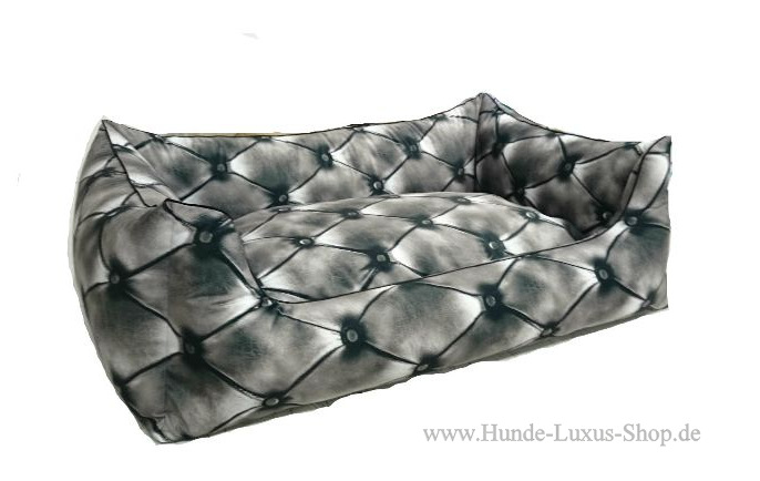 Hundebett Chesterfield Luxus Bett 3D
