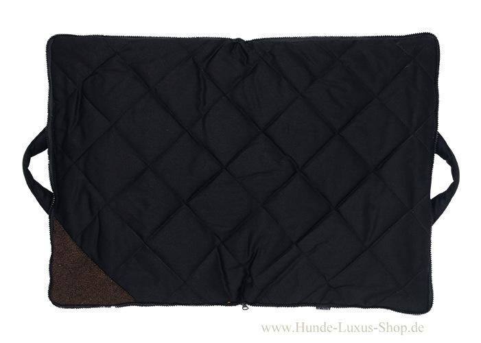 Hunde Luxusdecke mit Pastillenpolsterung - auf dieser Reisedecke kann man ausruhen und schlafen wo immer Frauchen , Herrchen und Hund auch ist.