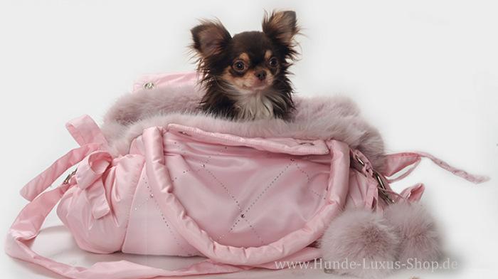 BEMERKUNG - wir legen grossen Wert auf hochwertige,  tierfreundliche Produkte - deshalb hier selbstverständlich kein Echtfell als Innenfutter der Hundetasche